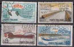 881 Italia 1956 Olimpiadi Invernali Cortina - Viaggiato Used Full Set - Giochi Olimpici