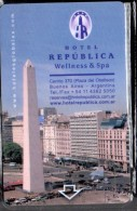 HC - ARGENTINA Buenos Aires -  REPUBLICA WELLNESS & SPA HOTEL KEY CARD - Hotel Keycards