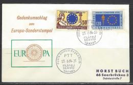 TÜRKEI Beleg Mi-Nr. 1901 - 1902 - 15 Jahre Europarat - 1921-... Republik