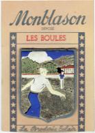 ECUSSON PETANQUE BOULES VERS 1950 SUR SON CARTON D ORGINE FABRICATION CUIR SUR FEUTRINE MAISON SAUNIERE A ESPERAZA - Bowls - Pétanque