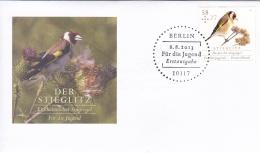 Germany FDC 2013 Bird Stieglitz - Für Die Jugend (G84-107) - [7] Federal Republic
