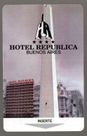 HC - ARGENTINA Buenos Aires -  REPUBLICA  HOTEL KEY CARD - Hotel Keycards