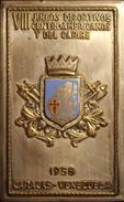 VENEZUELA. PLACA VIII JUEGOS CENTROAMERICANOS Y DEL CARIBE. CARACAS. 1.958 - Profesionales / De Sociedad
