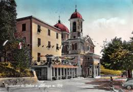 """05345 """"CASTIGLIONE CHIAVARESE (GE) - SANTUARIO DI VELVAS E ALBERGO"""" ANIMATA. CART. POST. ORIG. SPEDITA 1964. - Altre Città"""