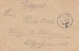 Feldpost WW2: 2. Kompanie Leichte Radfahr-Strassenbau-Bataillon 507 FP 42609 P/m  26.10.1942 - Letter Inside (G61-14A) - Militaria