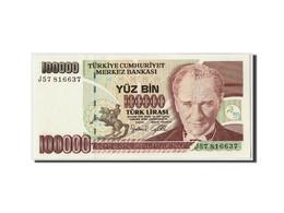 Turquie, 100,000 Lira, L.1970 (1997), KM:206, Non Daté, NEUF - Turquie