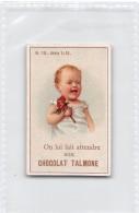 """04218 """"ON LUI FAIT ATTENDRE SON  CHOCOLAT TALMONE""""  ANIMATO BAMBINO,  FIGURINA ORIGINALE NR. 10 SERIE 1-14 - Cioccolato"""