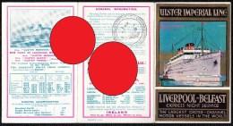 "RARE TRAVEL BROCHURE "" ULSTER IMPERIAL LINE - LIVERPOOL BELFAST 1926 "" 2 SCANS - Dépliants Touristiques"