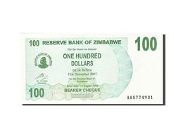 Zimbabwe, 100 Dollars, 2006-2008, KM:42, 2006-08-01, NEUF - Zimbabwe