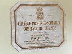 0540 - Château Pichon Longueville Comtesse De Lalande  Pauillac 1979 - Bordeaux