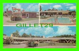 GLENNVILLE, GA - MOTEL SAN-SU & RESTAURANT TOO - PUB. BY R.E. DREW - 3 MULTIVIEWS - - United States