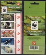 Belgien**WWF TIERE-EISBAER-WAL-SCHMETTERLING-PANDA-Heftchen 5 Duostamps-PF-WORLD WILDLIFE FUND - Bélgica