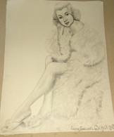 Dessin Au Crayon-Illustrateur -Lana Turner Est Une Actrice Américaine De Cinéma, Née Le 8 Février 1921 à Wallace (4) - Dessins