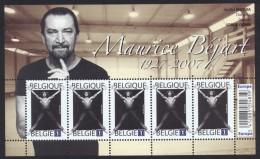 Belgium**BEJART-BALLET 20th CENTURY-SHEET 5 Stamps-DANCES-2009-TANZ-MNH - Belgium