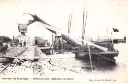 Souvenir De ZEEBRUGGE - Elévateur Pour Décharger Les Galets - Splendide Carte Animée - Zeebrugge
