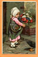 PCJ-21  Fillette Avec Bouquet De Fleurs. Cachet 1928 - Scènes & Paysages