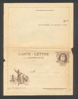 Carte Lettre De L'Espérance - Rouget De L'Isleet Joffre Imprimeur A Rebathé Besançon - Marcophilie (Lettres)
