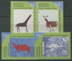 Argentinien 1997 Zeichenwettbewerb Für Kinder Thema Ökologie 2381/84 Postfrisch - Argentinien