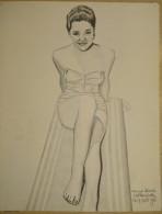 Dessin Au Crayon-Illustrateur - Anna Maria Alberghetti Est Une Actrice Et Chanteuse Italienne.  (5) - Drawings