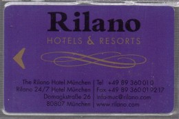 HC - ALEMANIA - München - RILANO RESORTS & HOTELS KEY CARD - Hotel Keycards