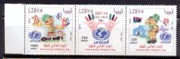 Libya 2014 - Strip Of 3 Stamps  - UNICEF - International Children´s Day - Libye