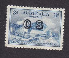 Australia, Scott #O13, Mint Hinged, Sydney Harbor Overprinted, Issued 1932