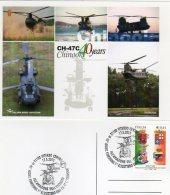 """VITERBO - 2013 - 40° Anniversario Consegna 1° Elicottero  EMB CH 47 C """"CHINOOK"""" - Elicotteri"""