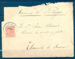 1884 , TOLEDO , CARTA CIRCULADA ENTRE TOLEDO Y ARANDA , ED. 210 , MAT. FECHADOR DE TOLEDO - 1875-1882 Royaume: Alphonse XII
