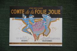"""Vins De Cimes """" COMTE DE LA FOLIE JOLIE """" , Vin Mousseux, Méthode Champenoise - TOULOUSE - Champagner"""