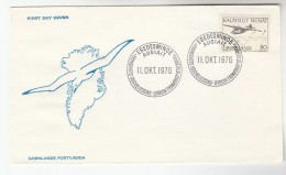 1976 GREENLAND  FDC Stamps AIRCRAFT  Cover Aviation - FDC