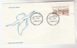 1978 GREENLAND  FDC Stamps GOTHAB Cover CANNON Pmk - FDC