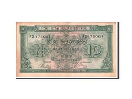 Belgique, 10 Francs-2 Belgas, 1943, KM:122 - [ 2] 1831-... : Koninkrijk België