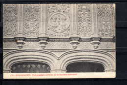 SALAMANCA.UNIVERSIDAD.DETALLE DE LA FACHADA PRINCIPAL   NO CIRCULADA. 1910 - Salamanca