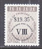 TRINIDAD  & TOBAGO   REVENUE  R 10  **  NATIONAL  INSURANCE - Trinidad & Tobago (1962-...)