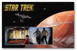 2016 Canada Star Trek 50th Anniversary Minisheet Of 2 Lenticular Souvenir Sheet Animated MNH - 1952-.... Regno Di Elizabeth II