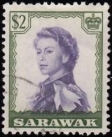SARAWAK - Scott #210 Queen Elizabeth II / Used Stamp - Sarawak (...-1963)