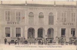 CASTELJALOUX PASSAGE DU TOURING CLUB DE FRANCE HOTEL FAGES BELLE VOITURE - Casteljaloux