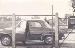 Carton Photo (non CP) 8.9 X 14 Cm - Renault Dauphine (gros Plan Derrière Un Grillage) - Turismo
