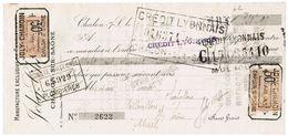 1925 MANUFACTURE EXCLUSUVE DE CASQUETTES JOLY-CHAMOIN CHALON SUR SAONE - Lettres De Change