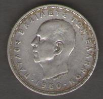 GRECIA 20 DRACHMAI 1960 AG SILVER - Grèce