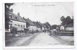 CPA Fosseux Pas De Calais 62 Rue D' Arras Animée édit Baudier à Avesnes Le Comte écrite 1916 En Anglais - Autres Communes