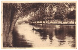 Bedford, River And Suspension Bridge - Photochrom - Postmark 1949 - Bedford