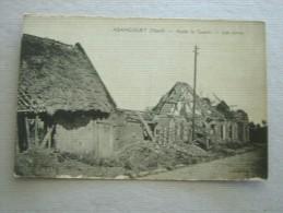 CARTE POSTALE Ancienne De ABANCOURT Nord 59 Les Ruines Après La Guerre - Autres Communes