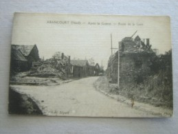 CARTE POSTALE Ancienne De ABANCOURT Nord 59 La Route De La Gare Après La Guerre - Autres Communes