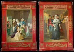 FIN 1800 - 2 X GRAND CHROMOLITHO (39 X 27cm) - STOOMKOFFIEBRANDERIJ DE WITTE OLIFANT ( Stevens Antwerpen - Borgerhout ) - Vieux Papiers