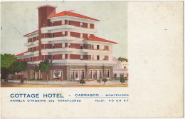 Montevideo  Carrasco Cottage Hotel Rambla O' Higgins Esq. Miraflores  Correo Aereo 1948 To Paris Hotel Georges V - Uruguay