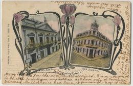Montevideo  Club Catolico, Club Nacional,  Edicion Galli, Iris Circulada A Chicago 1905 - Uruguay