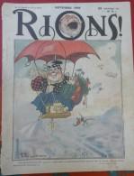 Revue Ancienne Rions N° 8 Novembre 1908 Dessins Et Textes Humoristiques - Books, Magazines, Comics