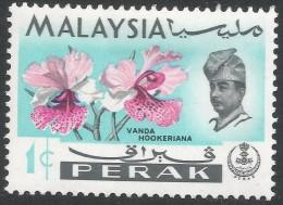 Perak (Malaysia). 1965-68 Orchids. 1c MH. SG 163 - Malaysia (1964-...)