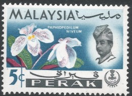Perak (Malaysia). 1965-68 Orchids. 5c MH. SG 165 - Malaysia (1964-...)